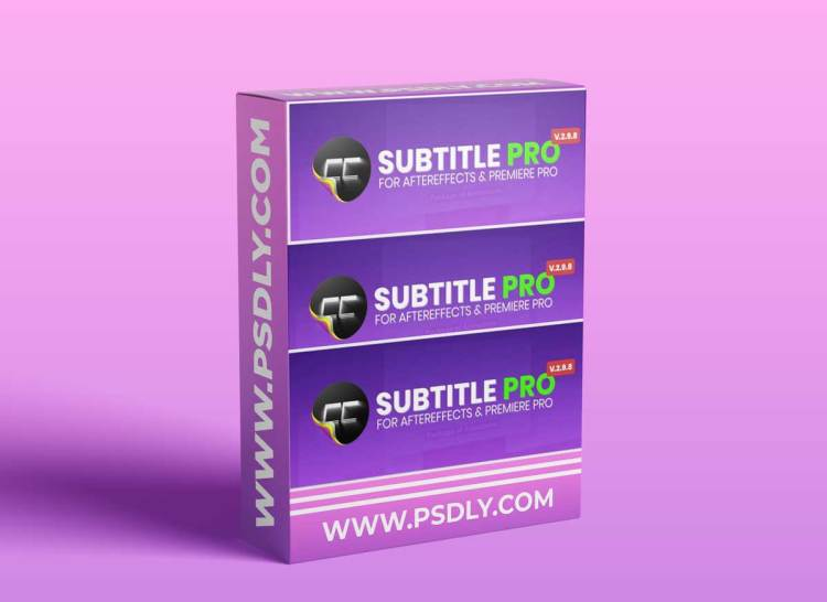 Subtitle Pro 2.8.0 for After Effects (Win/Mac)