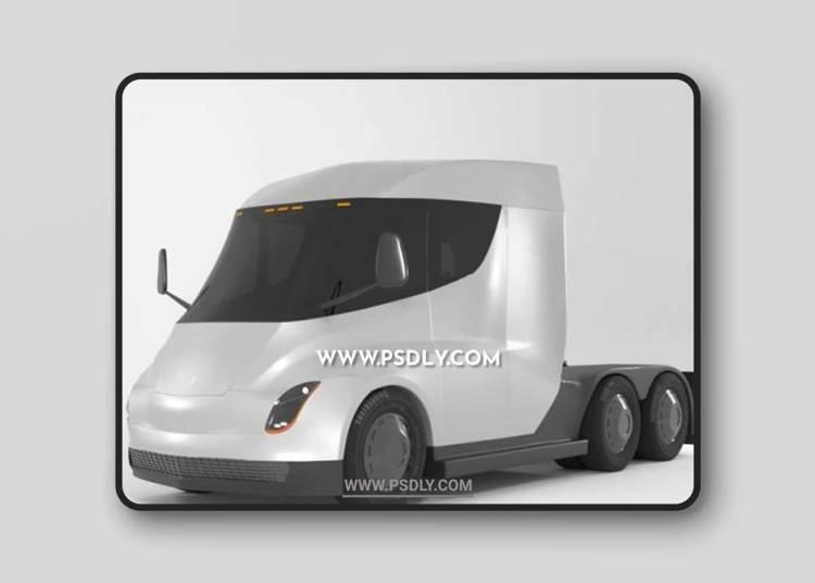 Tesla semi truck 3D Models
