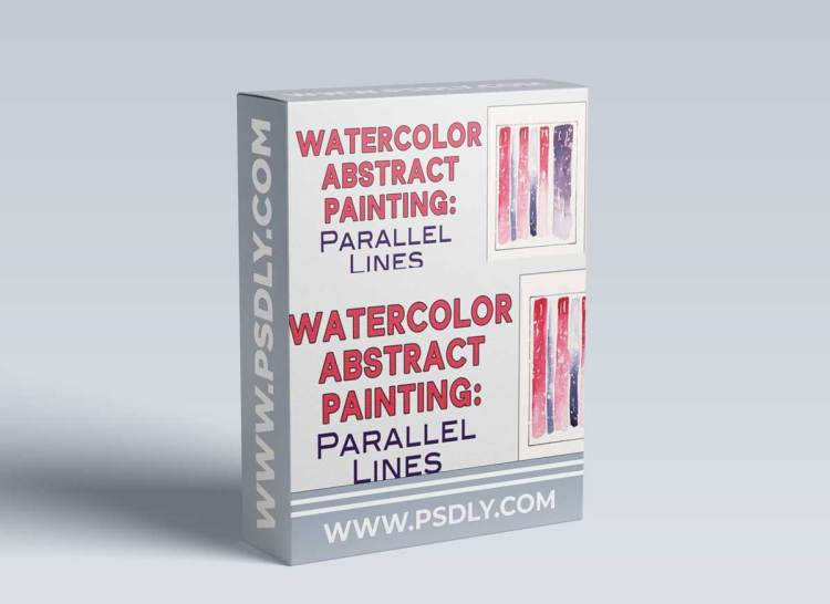 Watercolor Abstract Art: Parallel Lines