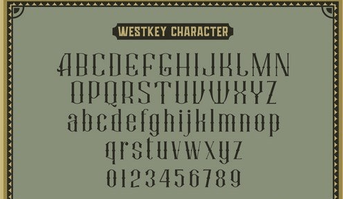 Westkey Victorian Type Font