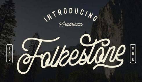 Folkestone - Modern Vintage Script Font
