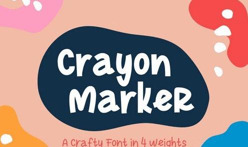 Crayon Marker Font