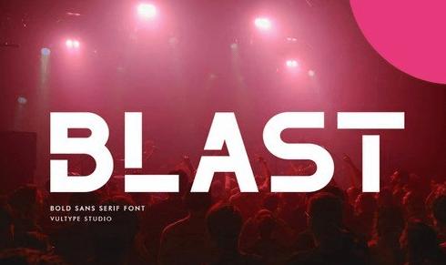 The Blast - Bold Font