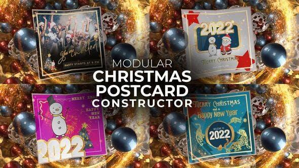 Videohive Christmas Postcard 34133556