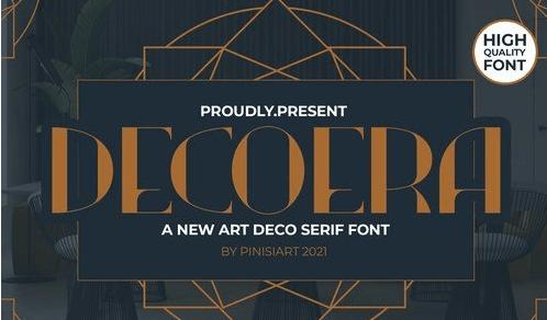 DECOERA - art deco font