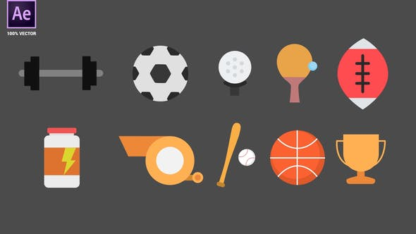 Videohive Sport Animated Icons 34095066