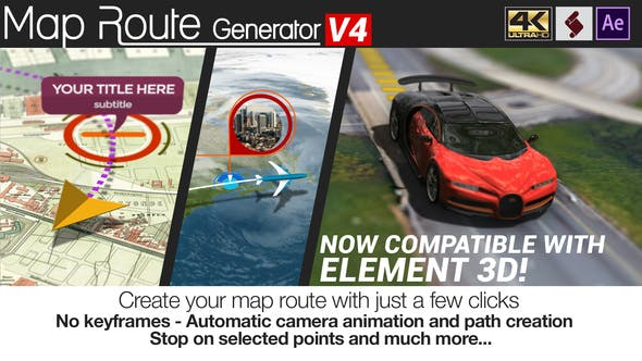 Videohive - Map Route Generator V4 - 21686169