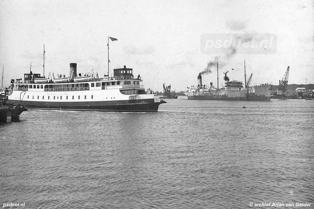 De grootste vooroorlogse PSD-veerboot was de Prinses Juliana uit 1931