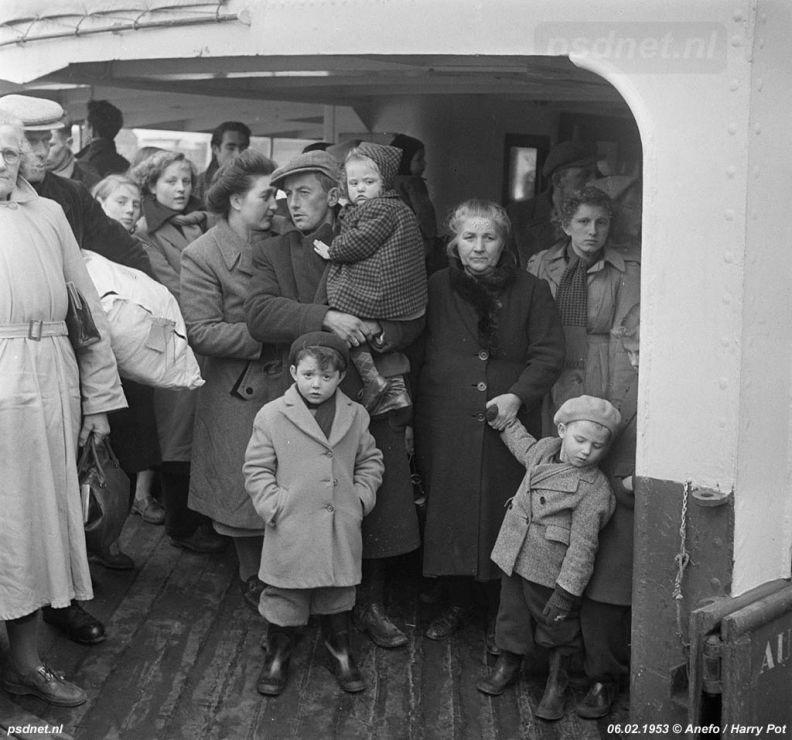 Evacuaties in 1953