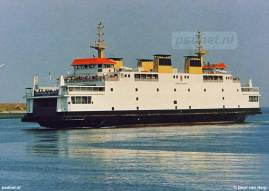 Een ansichtkaart met de Provinciale boot Koningin Beatrix.