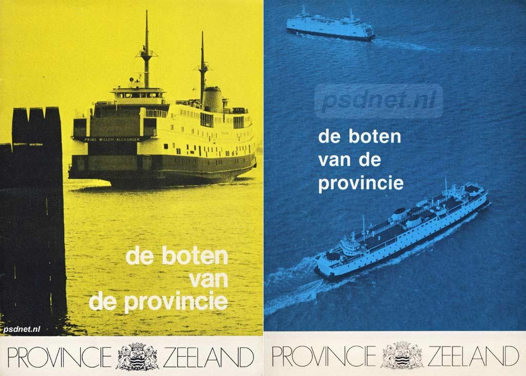 De boten van de Provincie 1983/1988