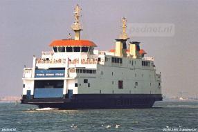 De Prins Johan Friso tijdens de eerste zomer dat deze veerboot in de vaart was: 1997.
