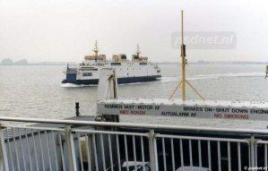 Een klein hoogtepunt van iedere PSD-overtocht: het passeren van de andere veerboot.