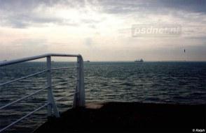 De ingang voor passagiers op de enkeldeksveerboot Prinses Margriet.
