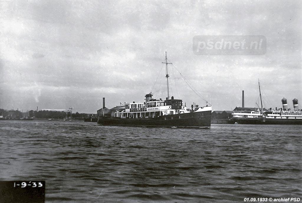 Proefvaart in 1933