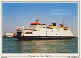 Een ansichtkaart met daarop de 'Provinciale Boot', zoals de veerboten van de Provinciale Stoombootdiensten in Zeeland (PSD) genoemd werden.