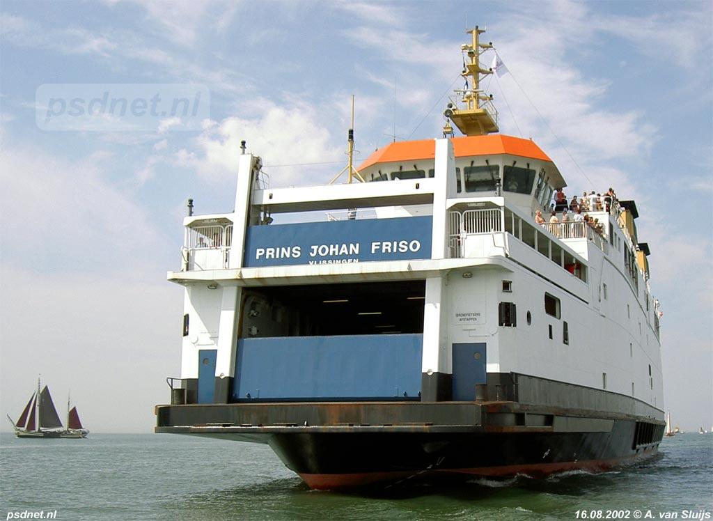 De veerboot Prins Johan Friso van de veerdienst Vlissingen-Breskens