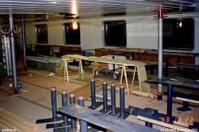 Langzaam maar zeker krijgt in 1993 ook de salon van de veerboot Koningin Beatrix vorm. Gekozen is voor een gezelligere salon, aangezien de salon van de Prinses Juliana (1986) niet in de smaak viel bij de Zeeuwen.