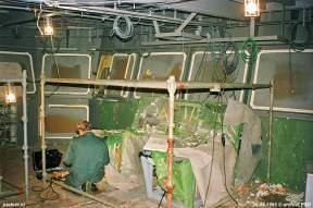 De stuurhut van de Koningin Beatrix in aanbouw op de werf.