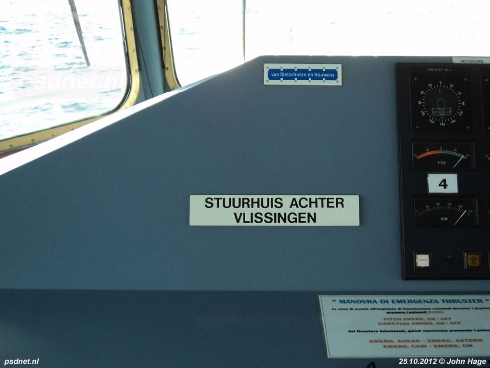 De bordjes met 'Stuurhuis achter Vlissingen' en 'Stuurhuis voor Breskens' hangen er nog steeds in Italië.