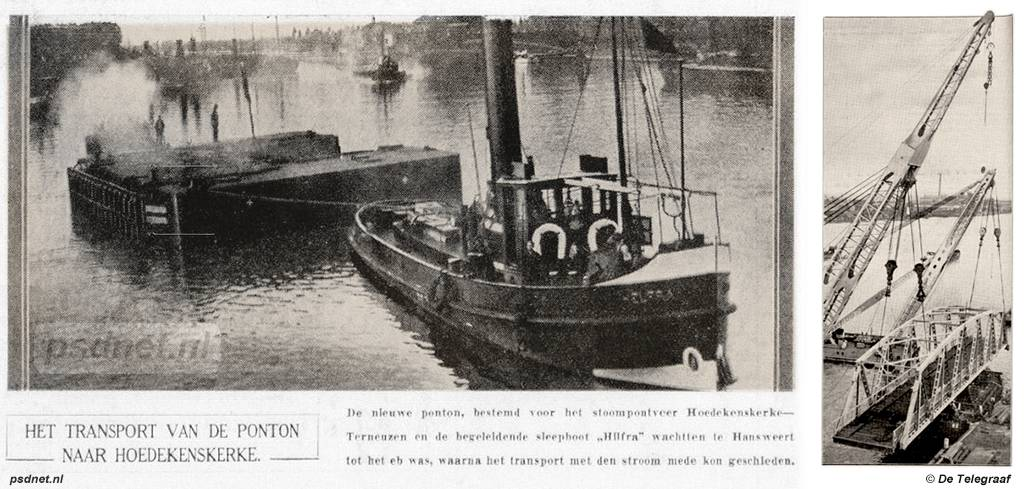 Transport van de brug van Hoedekenskerke