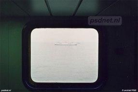 Een bijzondere ontmoeting op de Westerschelde: de nieuwe dubbeldeksveerboot Koningin Beatrix (1993) passeert de enkeldeksveerboot Prinses Beatrix (1958).