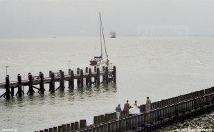 De laatste trouwfoto met een PSD-veerboot op de achtergrond werd op 11 juni 2004 gemaakt in Vlissingen.