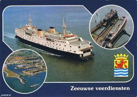 Ansichtkaart Zeeuwse veerdiensten