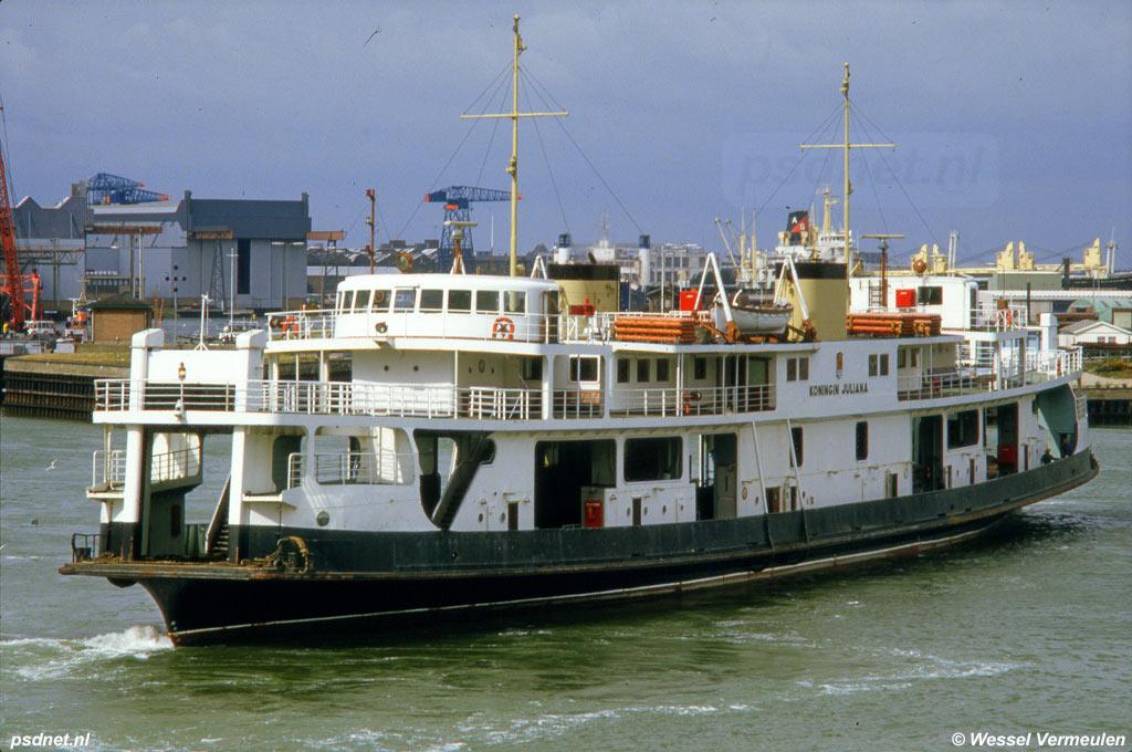 De Koningin Juliana in de Buitenhaven