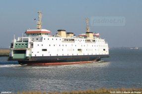 Veruit de modernste veerboot van de veerdienst Kruiningen-Perkpolder was de dubbeldeksveerboot Prinses Juliana.