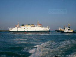 Een foto van de laatste PSD-vaart met de dubbeldeksveerboot Koningin Beatrix.