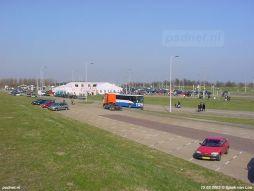 15 maart 2003: Tent op veerplein Kruiningen