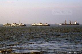 Jarenlang een vertrouwd beeld: de Prinsessenboten tussen Vlissingen-Breskens. Foto: © Wessel Vermeulen
