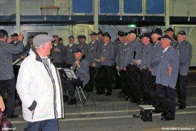 Tijdens de PSD-reünie was er vertier aan boord, bijvoorbeeld in de vorm van Shantykoor Veerse Scheepstuig.
