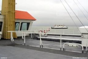 Zusterschip Koningin Beatrix (1993) was tijdens de PSD-reünie van 2004 gewoon in de vaart op de veerdienst Vlissingen-Breskens.