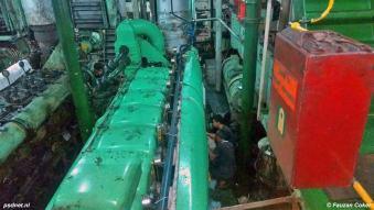 We zien hier een Smit-MAN-dieselmotor van de voormalige PSD-boot Margriet in Indonesië. Technische specificaties: 1.165 APK bij 400 omwentelingen per minuut.