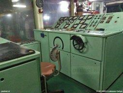 De controlekamer van de voormalige PSD-boot Prinses Margriet.