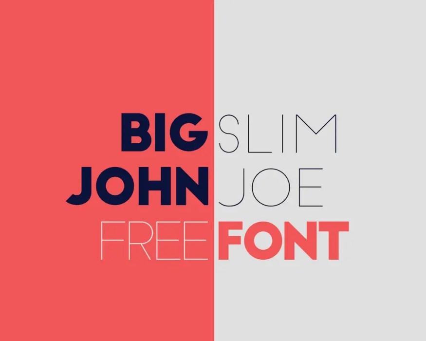 Big John Slim Joe - FREE Font