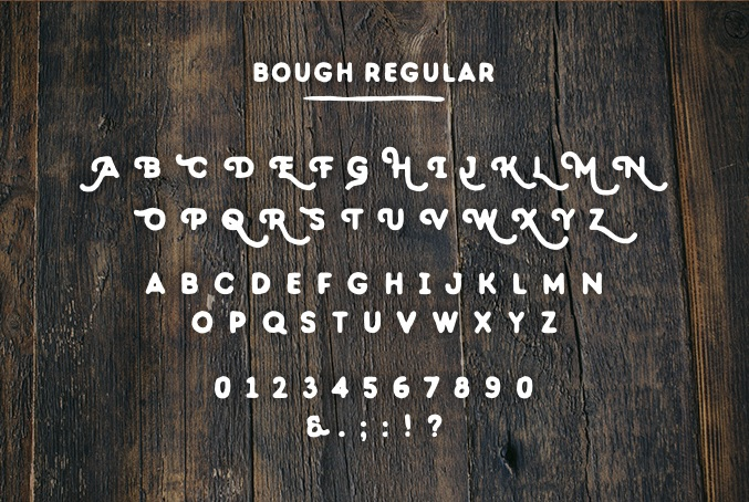 Bough - A Hand Drawn Typeface - Free Download - Regular