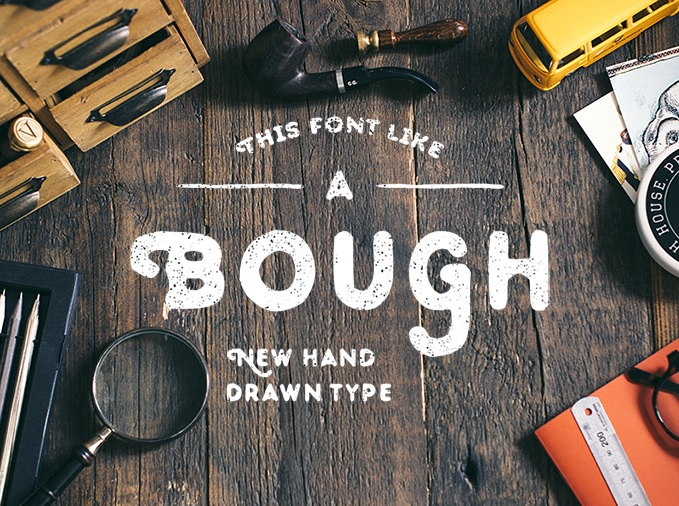 Bough - A Hand Drawn Typeface - Free Download
