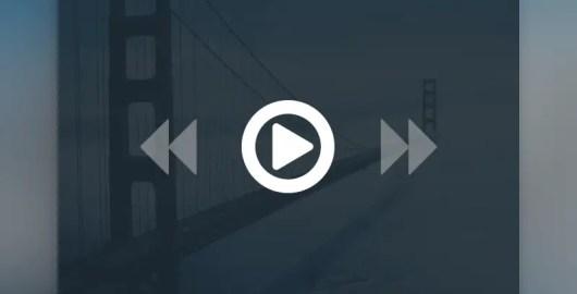 Free Minimal Video Player UI PSD Download