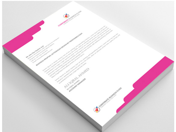 12 free letterhead templates in psd ms word and pdf format free psd letterhead template in 3 different colors spiritdancerdesigns Choice Image