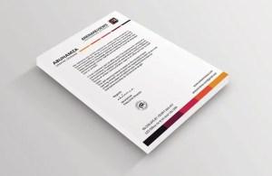 Free White Letterhead Template PSD