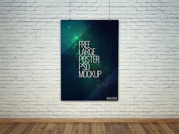 28 free psd poster mockup templates for designers psdtemplatesblog you can use it also to showcase pictures posters etc in a realistic way the dimensions of this poster are 2800 x 2000 maxwellsz