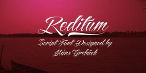 Reditum tattoo font