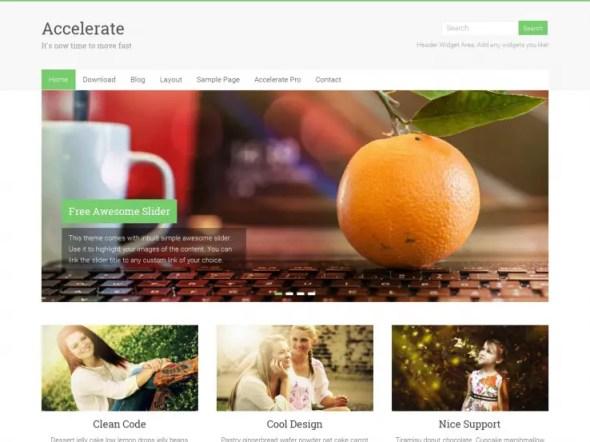 Accelerate WordPress Portfolio Theme