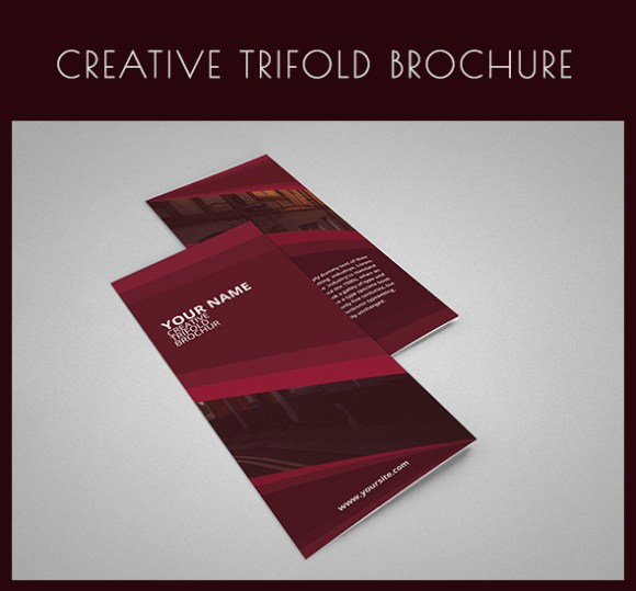 65 print ready brochure templates free psd indesign ai for Simple tri fold brochure template
