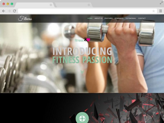 Fitness - Gym Website Responsive Template with Bootstrap
