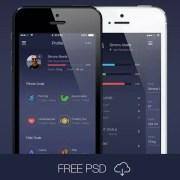 Free Fitness App UI Kit PSD