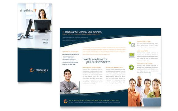 Free IT Business Tri-Fold Brochure Template